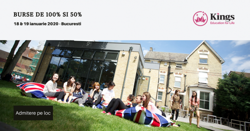 Burse de 100% si 50% la Kings College London si Kings College Bournemouth si admitere pe loc!